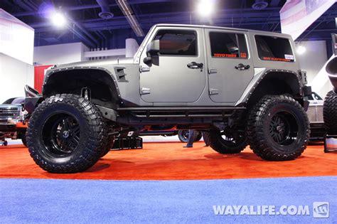 grey jeep wrangler 4 door 2012 sema american force gray 4 door jeep jk wrangler
