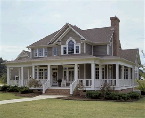 farmhouse with wrap around porch house plans farmhouse wrap around porch dream homes pinterest