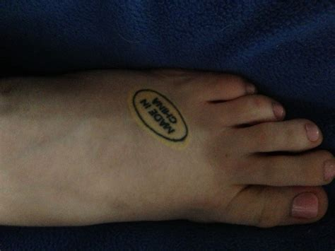 made in china tattoo my made in china on my foot ink