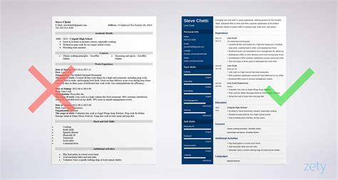 line cook resume samples visualcv resume samples database
