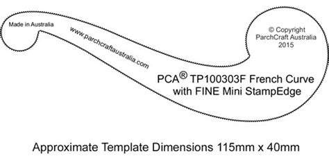 tp100303f french curve small perforated parchment worldwide