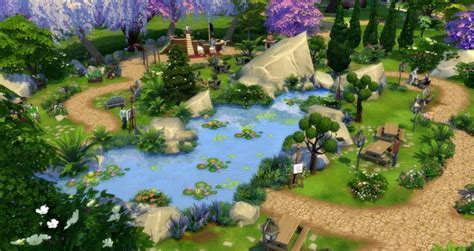 Cherry Blossom Park at Studio Sims Creation » Sims 4 Updates