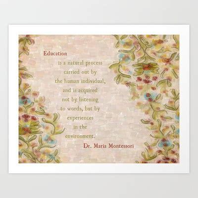 printable picture maria montessori maria montessori quote whimsical artsy fine art print on