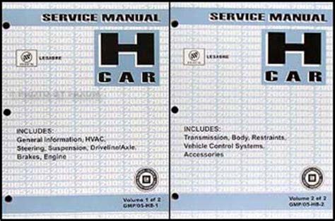 service manuals schematics 2000 buick lesabre auto manual 2005 buick lesabre repair shop manual original 2 volume set