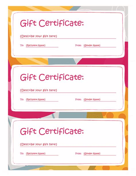 gift certificate template word 2003 gift certificate template free word 2003 image collections