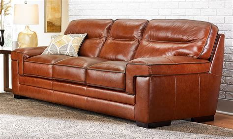 Simon Li Orion Top Grain Leather Sofa The Dump America Top Grain Leather Sofa