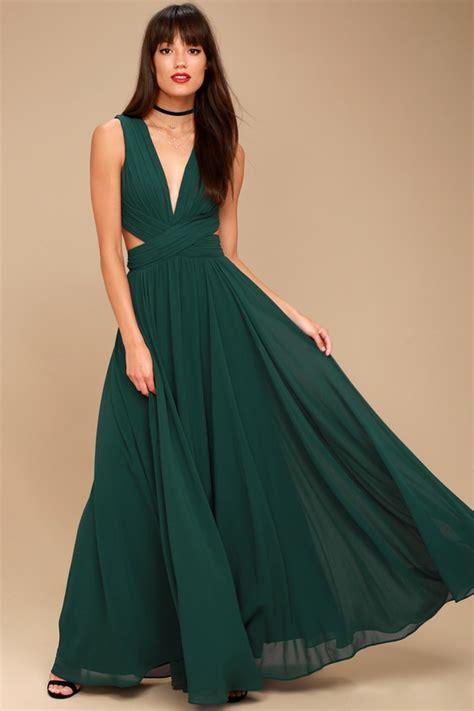 Dress Green lovely forest green dress cutout maxi dress maxi dress
