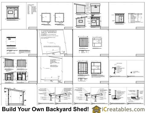 Shed Plans And Material List Free by 10x10 Studio Shed Plans 10x10 Office Shed Plans Modern
