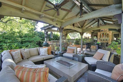 homes with outdoor living spaces custom outdoor pavilion addition in danville gayler