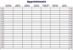 Weekly Appointment Calendar Template by Printable Weekly Appointment Calendar Printable Calendar