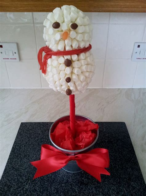 marshmallow snowman sweet tree sweetie trees pinterest