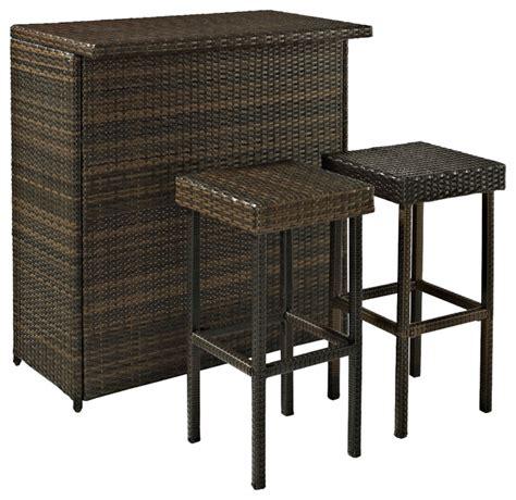 Bar Furniture Set by Palm Harbor 3 Outdoor Wicker Bar Set