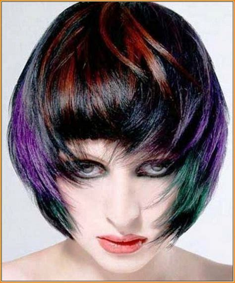 colorful short haircut amazing colorful hairstyle with short hairs hairzstyle