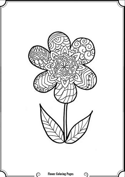 Intricate Flower Coloring Pages - Coloring Home
