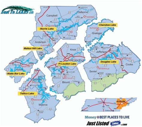 lakes in east tennessee map lakes lake lots and lake