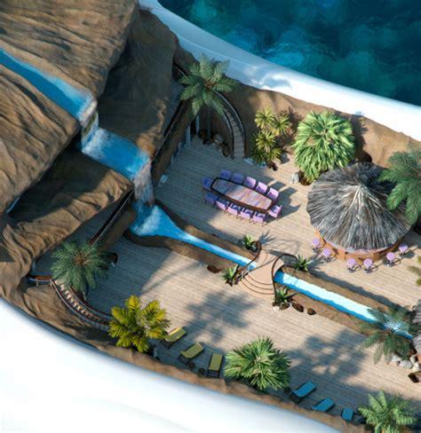 yacht island design tropical island paradise mega yacht by yacht island design