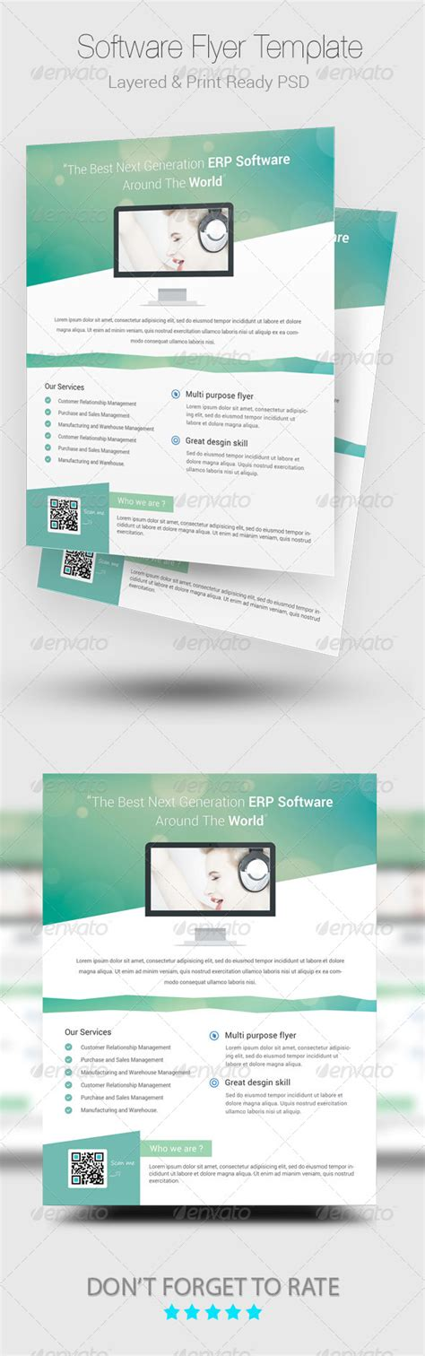 graphic flyer design software print template graphicriver modern software psd flyer