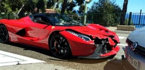 laferrari crash laferrari smashed first customer car crashed