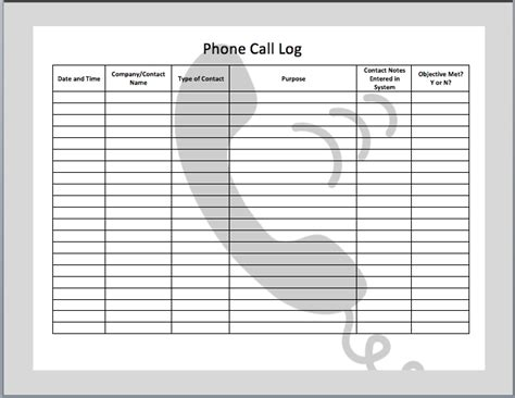 call log template peerpex