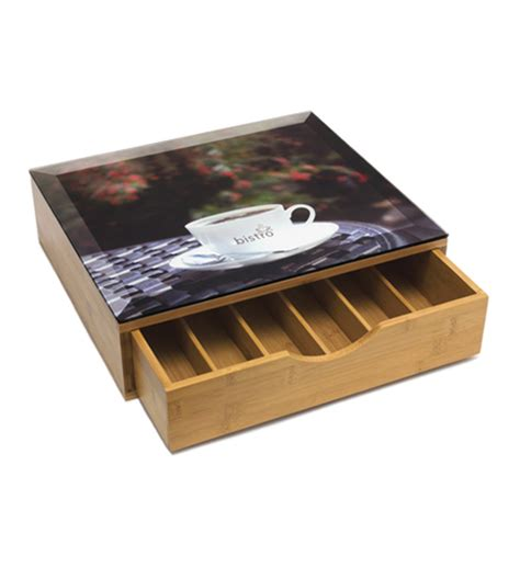 Coffee Storage Drawer by Coffee Pod Storage Drawer Bamboo In Tea And Coffee Storage