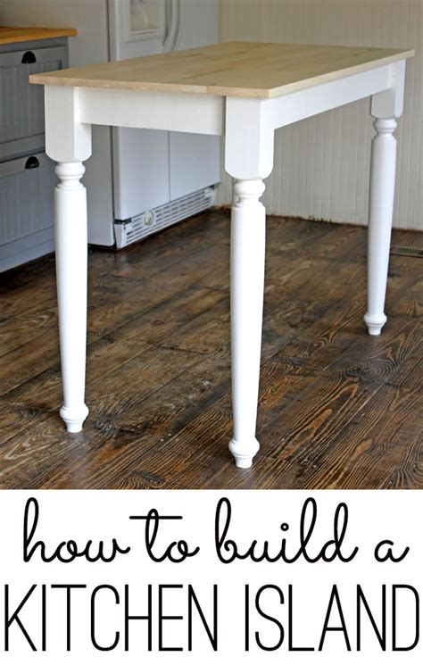 build  kitchen island  easy diy project