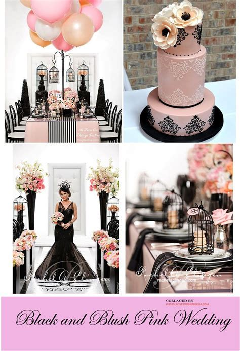 Black and Pink Wedding Color Palette   wedding ideas