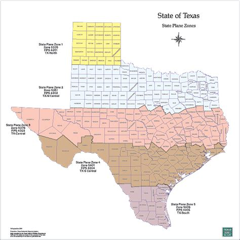 texas state plane coordinate system map tpwd gis lab map downloads