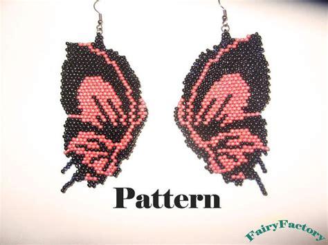 etsy bead pattern pattern butterfly brick stitch earrings by fairyfactory on