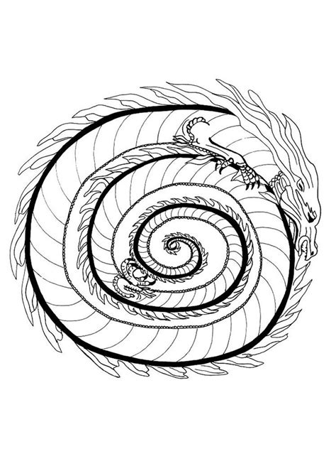 dragon mandala coloring pages fire dragon mandala coloring pages hellokids com