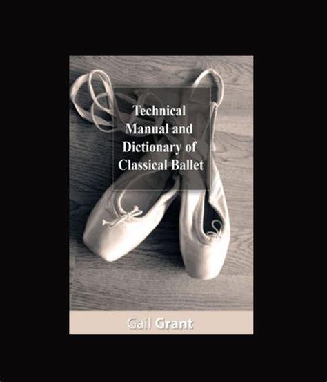 libro technical manual and dictionary technical manual tienda de ballet feel like dancing