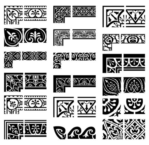 Online Design Tools ethnic style border with corner vector over millions