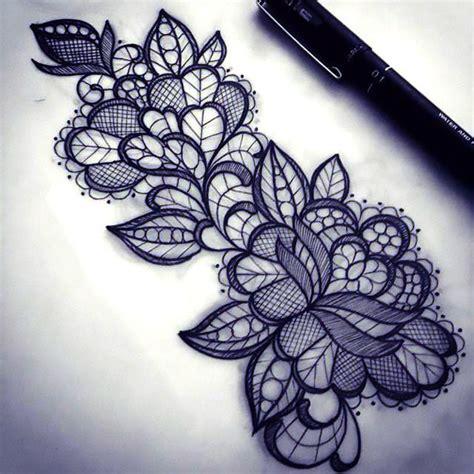 pattern tattoo images lace pattern tattoo design