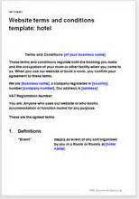 terms and conditions template nz website terms and conditions template hotel business