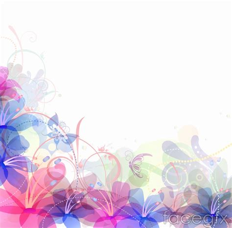 floral lights light color flower background vector millions