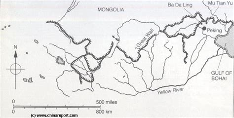 Great Wall Of China Map Outline by Structures Of The Great Wall Of China Of The Ming Dynasty