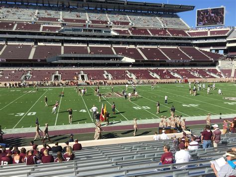 kyle field visitor section kyle field section 126 rateyourseats com