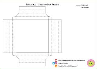 Nashi Tutorials Diy Shadow Box Frame Paper Frame Shadow Box Template