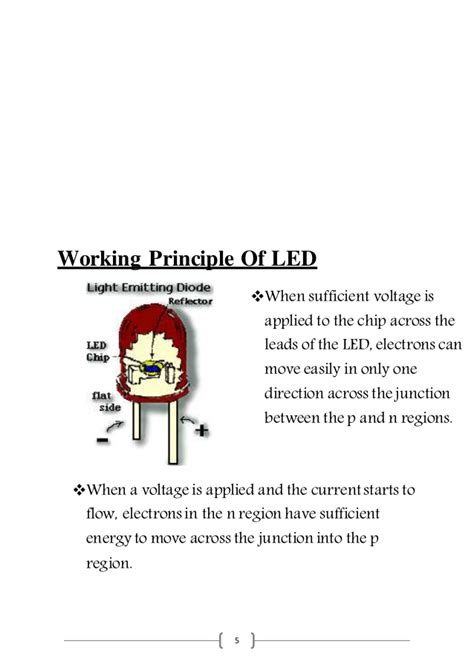 light emitting diode working ppt light emitting diode presentation report