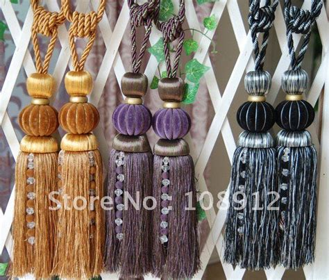 ball fringe curtains free shipping top quality tassel curtains ball diameter