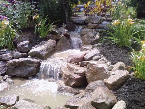 Koi Pond In Backyard Pondless Waterfall Build Ephrata Pa C E Pontz Sons