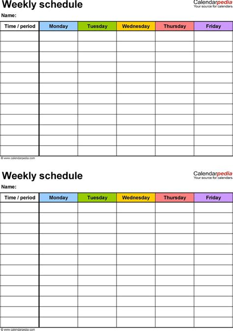 Best 25 Weekly Schedule Template Excel Ideas On Pinterest Weekly Cleaning Schedules Cleaning Monthly Cleaning Schedule Template Excel