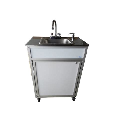 portable shoo sink no plumbing shop monsam white single basin stainless steel portable
