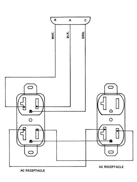 wiring a duplex receptacle outlet wiring diagram