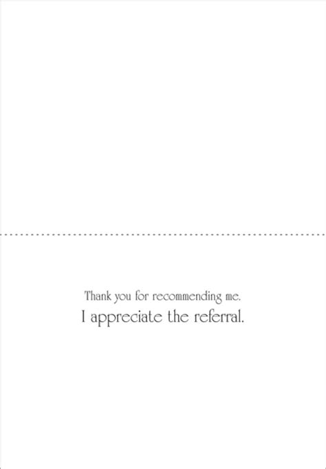 Insurance Referral Thank You Letter Professional Business Referral Thank You Cards It Takes Two Inc