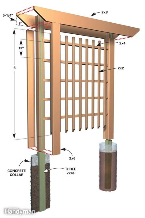 arbor trellis plans trellis on pinterest