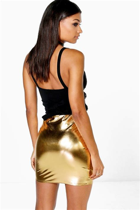 Freya Skirt boohoo womens freya metallic mini skirt ebay