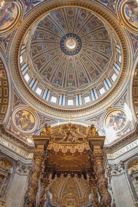 cupola bernini roma baldacchino da bernini e cupola in basilica di san