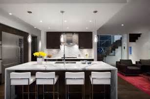 Modern Kitchen Island Design Ideas Modern Kitchen Remodeling With Island As Dining Table
