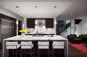 Modern Island Kitchen by Modern Kitchen Remodeling With Island As Dining Table