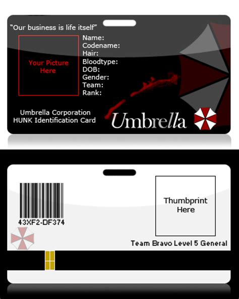 umbrella corporation id card template 404 not found